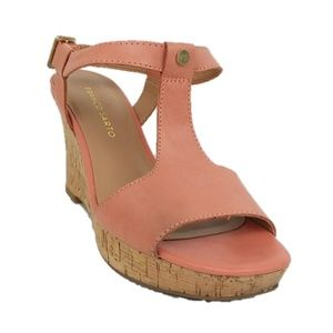 Franco Sarto Peach Corridor Cork Wedge Sandals